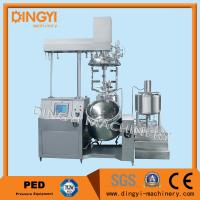 China Stainless Steel Vacuum Emulsifying Mixer , Cosmetic Cream Mixers With PLC Control wholesale
