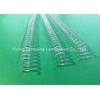 China Clear Spiral Binding Coils Books Twin Loop Wire 11.0 mm Binding Capacity on sale