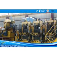 China Large Size Yellow ERW Pipe Mill Pipe Making Machine Round Shape Max 25m / Min Speed wholesale