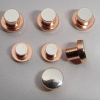 China Round Head Electrical Contact Materials Trimetal Rivets For 12V / 24V AC / DC Relays wholesale