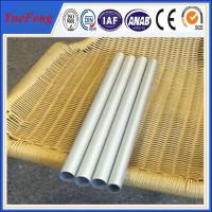 China Diameter 20mm round tube anodizing matt silver, aluminium pipes tubes for chairs