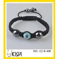 China Elegant & unique fashion design shiny polish / satine beaded crystal bracelets wholesale