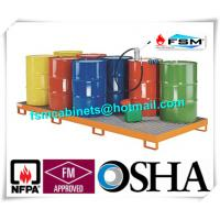 China Galvanized Steel Pallet Spill Containment Drum Platform For Multi Drums Storing wholesale