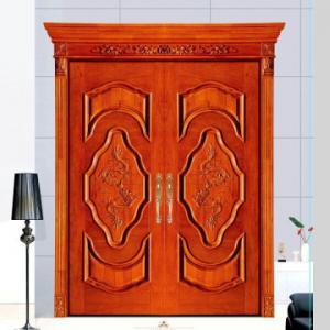 China House used swing main entrance wooden door/ MDF door, double wood door wholesale