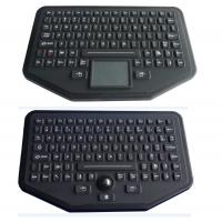 China Stand Alone Industrial Illuminated Keyboard With Trackball Black Color wholesale