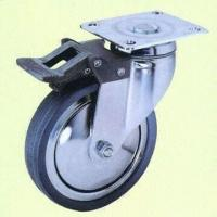 China European Style Total Lock Casters with Gray Rubber Wheel wholesale