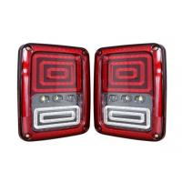China ABS Material Car Turn Signal Lights / Jeep Wrangler Tail Lights With USA And Euro Plug wholesale
