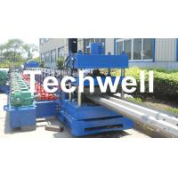 China 15KW Highway Guardrail Roll Forming Machine With 7 Rollers Leveling For W Beam Guardrail wholesale