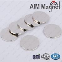 China Small Neodymium Strongest Rare Earth Round Disc Magnet N52 Silver 6 x 1mm wholesale