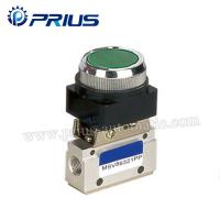 Quality 3 Way 2 Position Pneumatic Valve MSV86321PB , Round Green Button Mechanical Air for sale