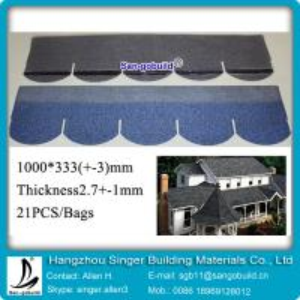 China 30years Guarantee Manufacturer Fiberglass asphalt shingle price (2) on sale
