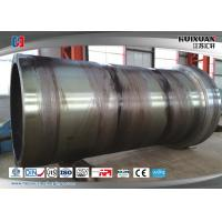 China Rough Machining Forged Cylinder Double Flange Barrel 5000mm 6000T wholesale