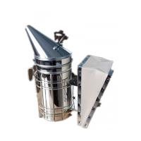China Galvanized Steel  Bee Hive Smokers Star American Style Bee Smoker With Leather Blow Box For Beekeepers wholesale