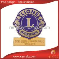 China Custom made cheap lapel pin for lions club, club pins in cheap price wholesale