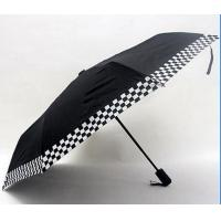 Medium Sized Automatic Up And Down Umbrella Balck Metal Frame With Fibreglass Ribs