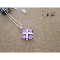 China 2012 new style 925 sterling silver gemstone pendant with competitive price W-VB909 wholesale