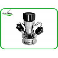 China Manual Operated Hygienic Sample Valves With Tri Clamp Sample Inlet Connection wholesale