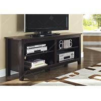 China Tv Console Table With Adjustable Shelving , Dark Wood Tv Cabinet 16 X 58 X 24 Inches wholesale