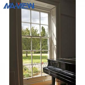 China Aluminium Naview Double Pane Glazed Double Hung Windows wholesale
