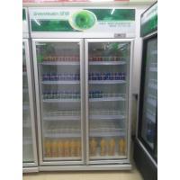 Quality Movable 2 Glass Door Beverage Showcase With Heating Fuse Defrost System for sale