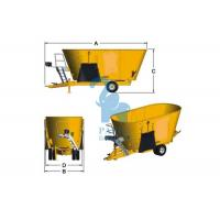 China Yellow Cattle Feed Grinder Mixer , High Speed Grain Feed Mixer Grinders For Livestock wholesale