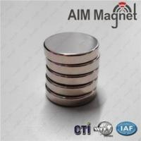 China Zinc Coated Rare Earth Magnet Strong N52 Disc Magnet D8x1.5mm wholesale