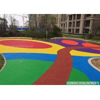 Buy cheap Colorful EPDM Rubber Granules Flooring for Kindergarten / Playground from wholesalers