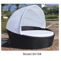 China Outdoor rattan wicker daybed with canopy  ---6015 wholesale
