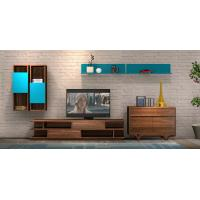 China 2017 New Living room Furniture TV Wall Unit Floor stand Hang cabinet in MDF melamine with High glossy panel wholesale