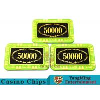 China Anti - Counterfeiting Crystal Poker Chips / Rectangular Poker Chips For Casino wholesale