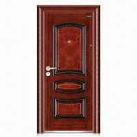 China Security Door with Peephole and Hinges, Made of Steel, Available in Various Colors wholesale