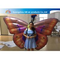 China Custom Back Inflatable Lighting Decoration Butterfly Air BOW With Internal Blowewr wholesale