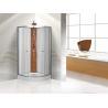 China Custom Quadrant Sliding Door Shower Cubicles , Curved Shower Glass Enclosure wholesale