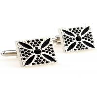 China White Nickel Free Stainless Steel Cufflinks With Die Casted And Plated Process wholesale