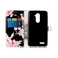China Comfortable Pu Leather Phone Case Personality Black Color Scratch Resistance wholesale