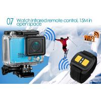 Quality Wifi Remote Control Outdoor Sports Camera / HD Action Cameras Support Slow for sale
