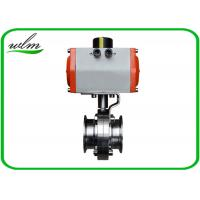 "China Hygienic Grade Sanitary Tri Clamp Butterfly Valve Compact Configuration , Large Size 1"" - 8"" wholesale"