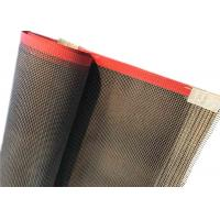 China 4*4 mm teflen Coated Fiberglass Mesh Conveyor Belt For Cardboard Division For Drying wholesale