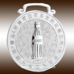 China customized lanyard metal coca enterprise medal with ribbon wholesale