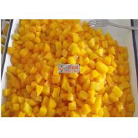 China Healthy canned yellow peach slices in light syrup / Peeled halves yellow peach wholesale