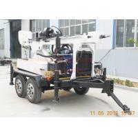 China Hydraulic Rotation Water Well Drilling Equipment With 4 Wheel Trailer Mounted wholesale