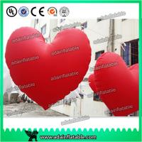 China Valentine's Day Decoration Red Inflatable Heart With LED Light For Club Hanging Decoration wholesale