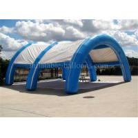 China Commercial Arch Inflatable Air Tent Rentals For Wedding 8m Blue Oxford Cloth wholesale