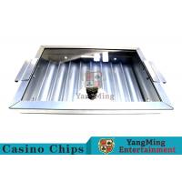 China 8 Row Thick Silver Color Poker Chip Trays Convenient Use Easy To Counting wholesale