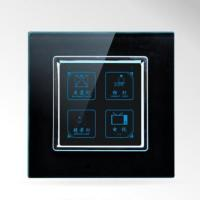 China US/AU Standard Touch Screen Light Switch 4 Gangs Tempered Glass Panel Touch Switch SWL-14 wholesale