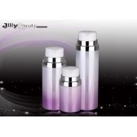 Quality Pump Head Cosmetic Plastic Bottles Purple And Red Silver Edge / Lotion Pump Bottles for sale