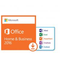 Quality Microsoft Office Home and Business 2016 Retail product Key Genuine Online Activation For Windows -1PC for sale