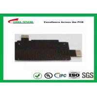 China Black Solder Mask Flexible PCB Manufacturing for Mobile Phone , 1mil PI Material wholesale