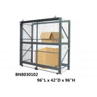 China Inventory Shrinkage Pallet Rack Security Enclosure 96*42*96 Inch Grey Color wholesale