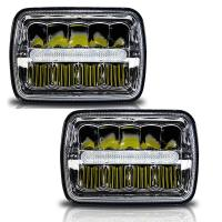 China H / Low Beam Led Car Headlamps With Parking Light , Square Led Headlights For Trucks wholesale